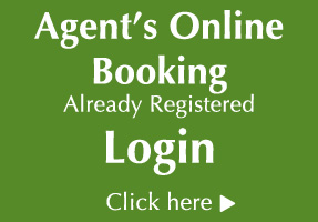 Login to our Agent's Online Booking Engine